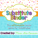 Editable Substitute Binder { Confetti Brights } The Ultima