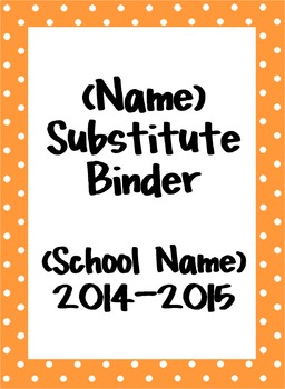 Substitute Binder Cover