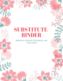 Cute Floral Substitute Binder Cover