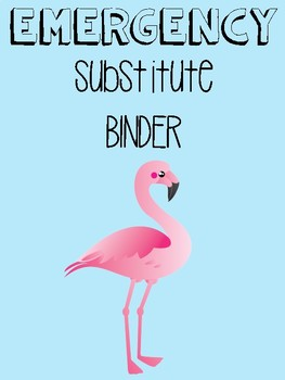 Substitute Binder Cover Flamingo Themed