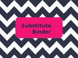 Substitute Binder Cover and Tabs