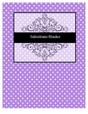 Editable Substitute Binder Divider Pages