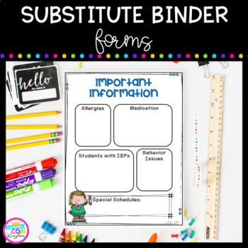 Substitute Binder Documents