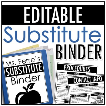 Substitute Binder | EDITABLE