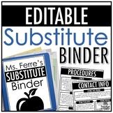 Substitute Binder | EDITABLE