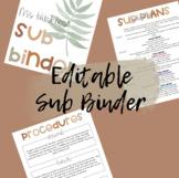 Substitute Binder / EDITABLE