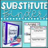 Emergency Substitute Binder Editable Floral and Shiplap Theme