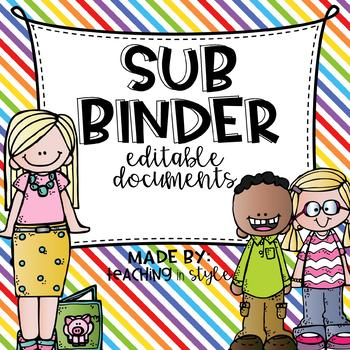 Substitute Binder Editable Documents