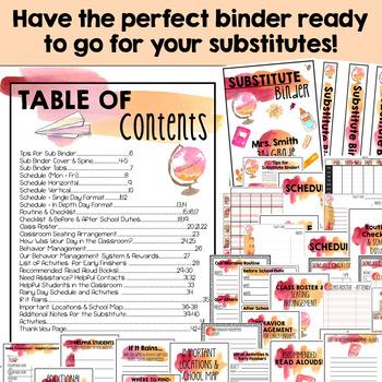 Substitute Binder Editable Watercolor