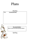 Substitute Binder Editable pages