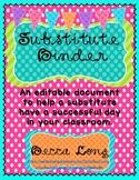 Substitute Binder - Folder / Editable