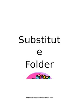 Substitute Binder Forms