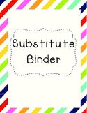 Substitute Binder Forms and Covers