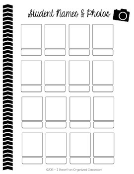 Substitute Binder (Forms to Organize for a Sub) Black & White