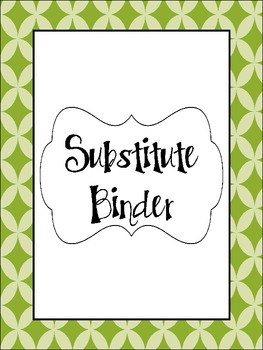 Substitute Binder- Green