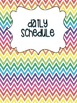 Substitute Binder Headers- Multi-colored Chevron