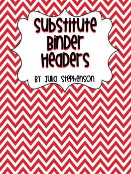 Substitute Binder Headers- Red/Black Chevron