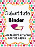 Substitute Binder Information: Editable