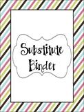 Substitute Binder- Multi-Color Striped