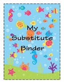 Substitute Binder Ocean-Themed