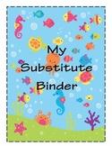 Substitute Binder Ocean-Themed