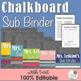 Substitute Binder - Chalkboard