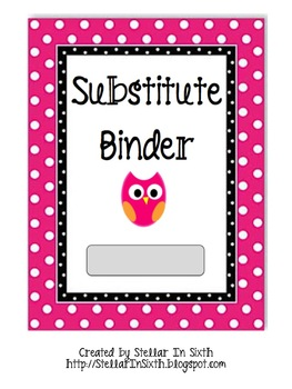 Substitute Binder Owl Theme