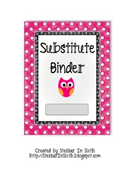 Substitute Binder Owl Theme (bubble wrap effect)