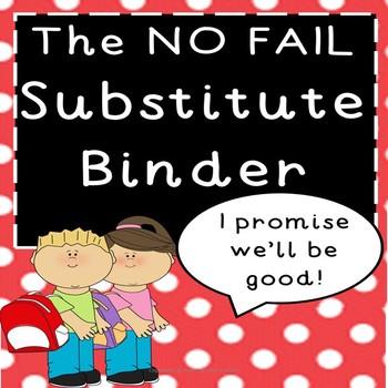 Substitute Binder Pack - Editable!