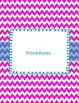 Substitute Binder Pink and White with Blue--Now Editable