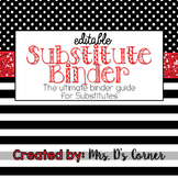 Editable Substitute Binder { Red White Black } The Ultimat