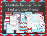 *EDITABLE* Substitute Binder- Red and Blue Theme