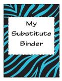 Substitute Binder Rock Star/ Wild Animal Prints