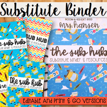 Substitute Binder (Short and Long Term)