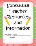 Substitute Binder - Simple and Cute Organization FREEBIE