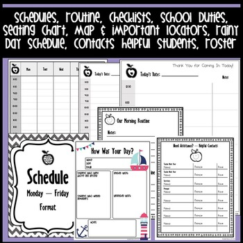 Substitute Binder & Sub Tub - Editable!