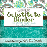 Substitute Binder { Teal Mosaic } Ultimate Sub Tub Binder Guide