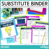 Substitute Binder Templates   Editable