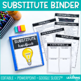 Substitute Binder Templates | Editable