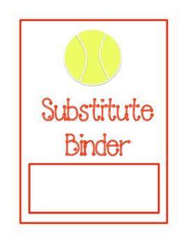 Substitute Binder - Tennis Ball Theme