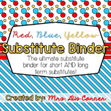 Editable Substitute Binder { Red Blue Yellow } For Short a