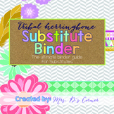 Editable Substitute Binder { Tribal Herringbone } The Ultimate Sub Binder Guide