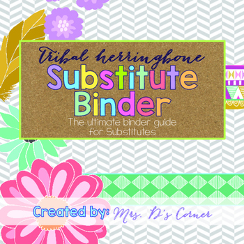 Editable Substitute Binder { Tribal Herringbone } The Ultimate Sub Binder Guide