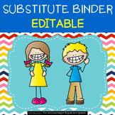 Substitute Binder {editable} - Colorful