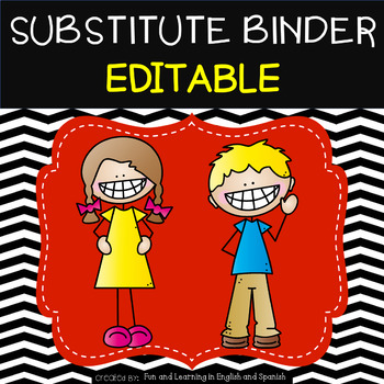 Substitute Binder {editable} - Black and White