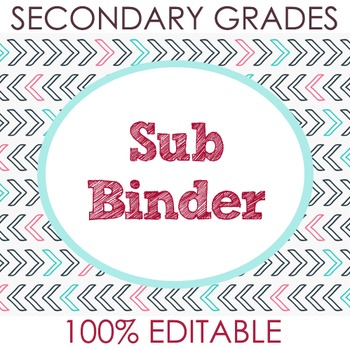 Substitute Binder for Secondary Grades