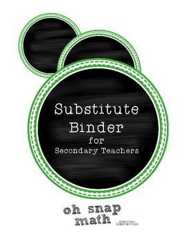 Substitute Binder for Secondary Teachers