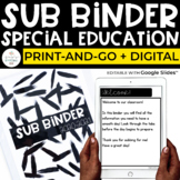 Substitute Binder for Special Education | Sub Binder Print