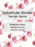 Substitute Binder for Special Needs classrooms *GROWING BUNDLE*