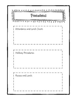 Substitute Binder for Teachers